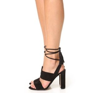 Madewell lace up Octavia heels size 7